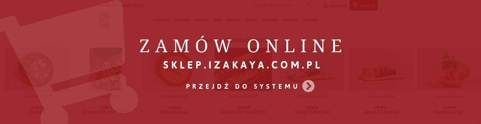 Zamówienia online - Sklep Izakaya Sushi